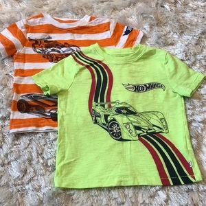 Other - Gap Toddler Boy Hot Wheels tee bundle, 2T
